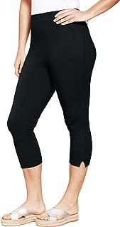 Women's Plus Size Petite Stretch Capri Leggings
