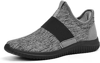 Mens Sneakers Slip On Lightweight Breathable Mesh Tennis Gym Sport Running Walking Shoes