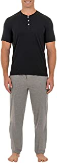 Fruit of the Loom Men's 2-Piece Jersey Knit Pajama Set