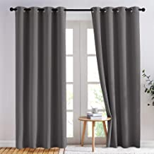 NICETOWN Blackout Curtains Panels for Bedroom - 3 Pass Microfiber Noise Reducing Thermal Insulated Solid Ring Top Blackout...