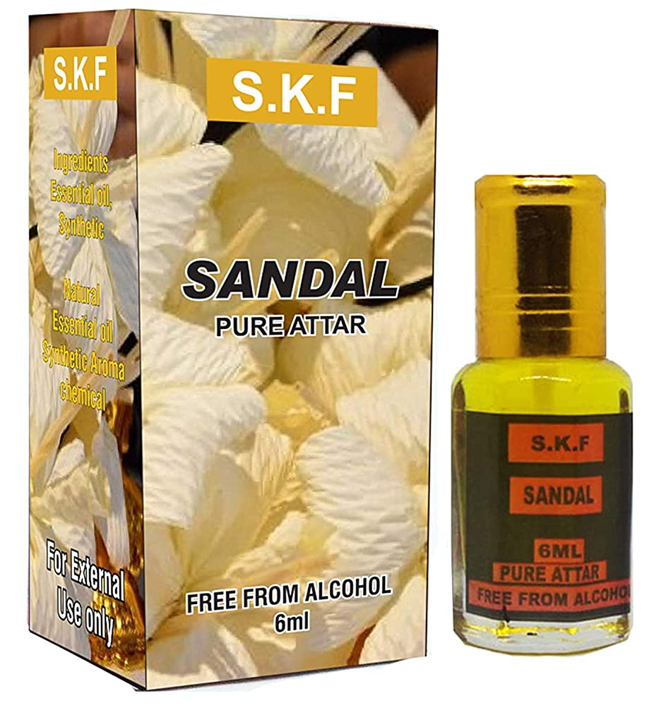 Fragrancessサンダル6mlの上を転がる純粋なアター濃縮香油|アターITRA最高品質の香水はアターを持続長いスプレー
