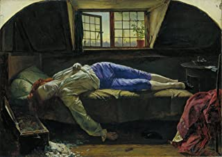 Henry Wallis: The Death of Chatterton. Fine Art Print/Poster. Size A1 (84.1cm x 59.4cm)