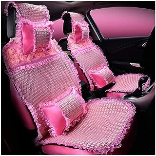 JKHOIUH Fundas de asientos delanteros de encaje, fundas de alfombrillas protectoras de asientos, se ajustan a la mayoría de los vehículos, automóviles, sedán, camión, SUV, van Funda de asiento de auto
