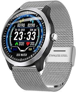 AIFB Pulsómetros Smartwatch, Impermeable Monitorización del Sueño Podómetro Alarma Monitor de Actividad Empuje de notificación para Android iOS Phone,D-OneSize