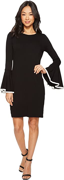 Vince Camuto - Long Sleeve Circle Cuff Dress