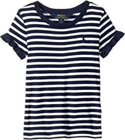 Ruffled Cotton-Modal T-Shirt (Toddler)