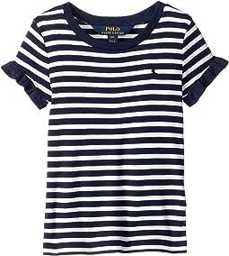 Ruffled Cotton-Modal T-Shirt (Toddler)