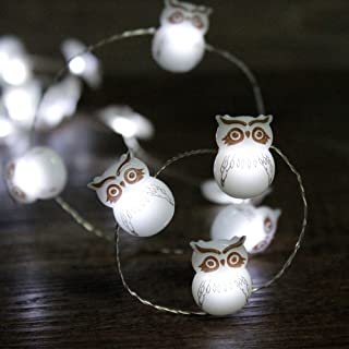 Impress Life Fairy Festive LED String Lights, Snow Owl Christmas Themed on 10 ft Copper Wire 40 LEDs with Remote for Holid...