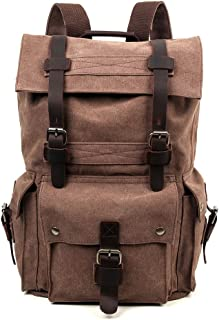 Travel Log Flint Backpack Genuine Canvas and Leather Backpack
