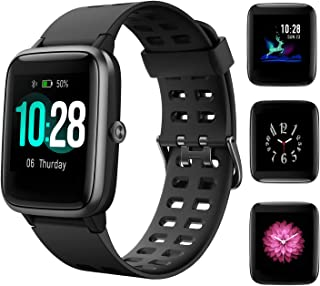 HolyHigh Smart Watch Waterproof Fitness Tracker Band 1.3' Touch Screen Fitness Watch Heart Rate Sleep Monitor Step Calorie Counter Call SMS Alert Activity Tracker for Men Women Ladies