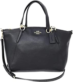 Leather Small Kelsey Cross Body Bag, Medium, Black