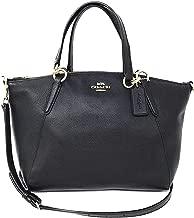 Coach Leather Small Kelsey Cross Body Bag, Medium, Black