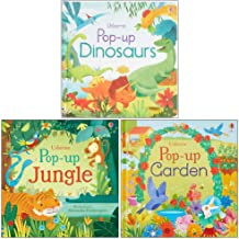 Usborne Pop Up Collection 3 books Set By Fiona Watt (Pop-Up Dinosaurs, Pop-Up Jungle, Pop-Up Garden)