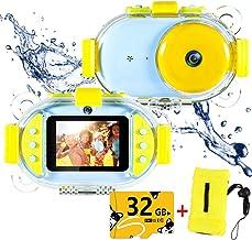 Kids Underwater Camera,ROTEK Dual 8MP 1080P Super HD Waterproof Digtial Camera with..