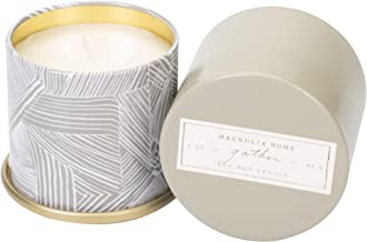 Magnolia Home Gather Scented 3.0 oz Soy Wax Tin Candle by Joanna Gaines - Illume Pack of 2