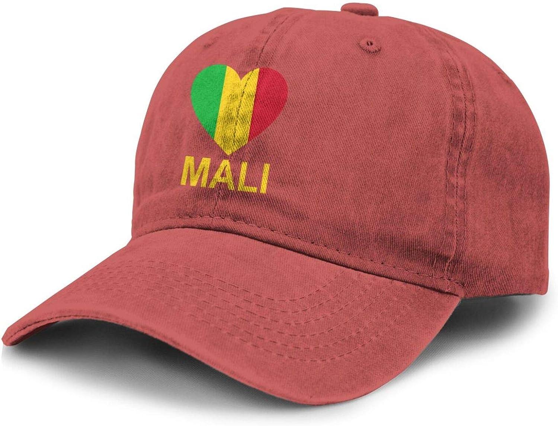 Love Mali Adult Curved Brim Baseball Hat Sports Cowboy Cap