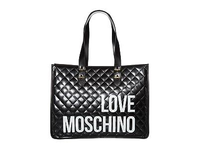 LOVE Moschino Love Shopping Bag (Black) Handbags