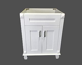 New white shaker Single-sink Bathroom Vanity Base Cabinet 24