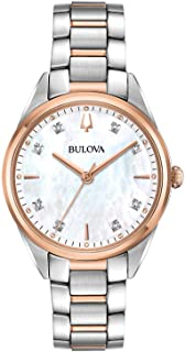 بولوفا 98P183 Women's Classic Diamond MOP Dial Two Tone Watch