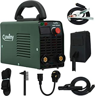 ARC Welder Mini, Cuwiny ARC200D 110v/220v IGBT Inverter Welding Machine, Maximum 200A MMA/Stick, Dual Voltage with High Frequency Duty Cycle Digital Display Welding.