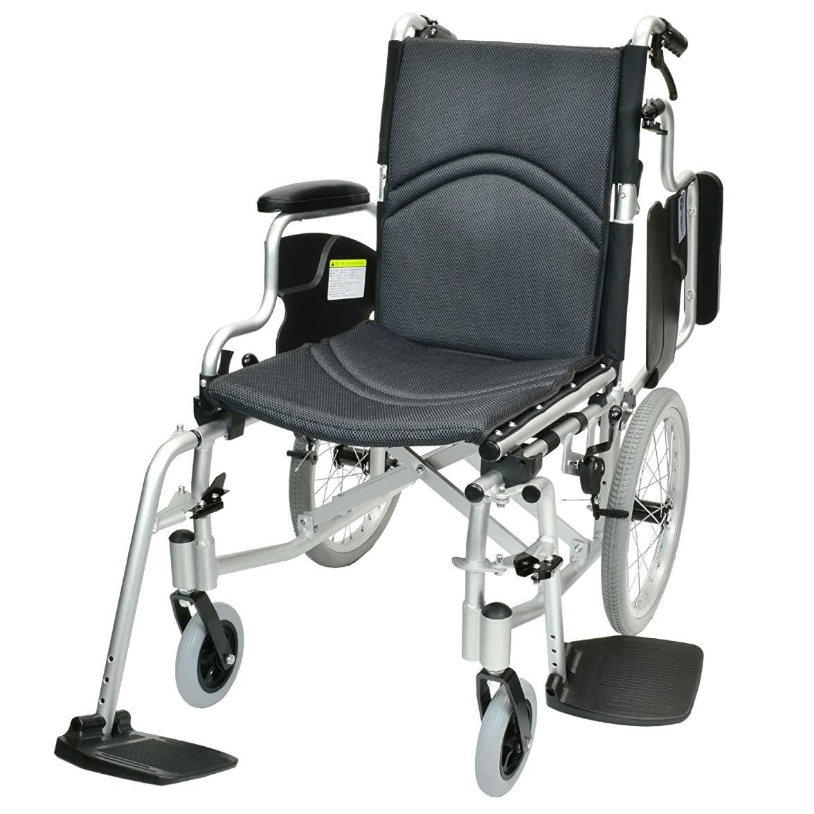 石鹸配管工類推ケアテックジャパン 介助式 アルミ製 車椅子 CAH-20SU コンフォート-介助式- (ダークグレー(メッシュ))