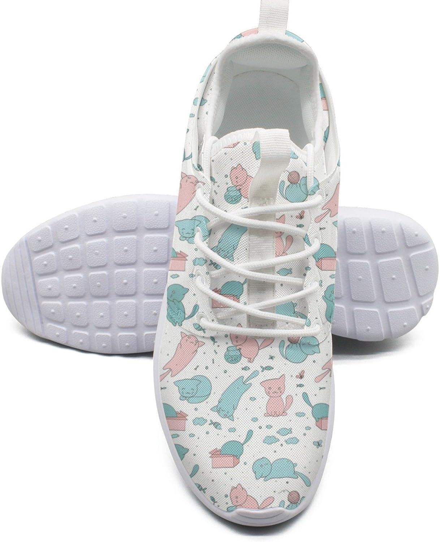 ERSER Cute Kittens Play Fish Box Balls Cool Running shoes Women