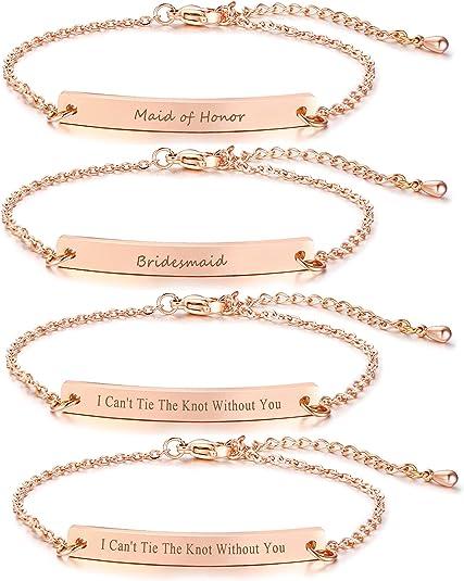 1. VNOX Customize Friendship Jewelry-Set