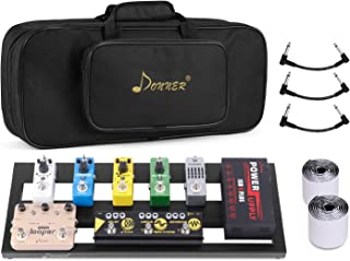 Donner Guitar Pedal Board Case DB-2 Aluminium Pedalboard 20'' x 8'' with Bag