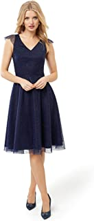 Review Women's Raindrops On Roses Dress Navy
