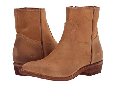 Frye Billy Inside Zip Bootie (Brandy Suede) Women