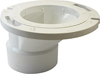 Canplas 193644 PVC DWV Offset Adjustable Flange, 4 x 3-Inch, White
