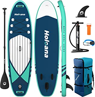 """ISSYAUTO Stand Up Paddle Board Inflatable SUP 10'6""""×31""""×6"""" Ultra-Light Inflatable Paddle Boards, Non-Slip Deck Pad, with B..."""