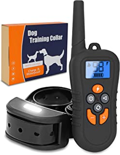 Brefac Dog Training Collar - Sport Shock Collar with Remote for Large Small Medium Dogs E Collars w/Night Light Electric Shock Beep Vibration [2018 Upgraded]