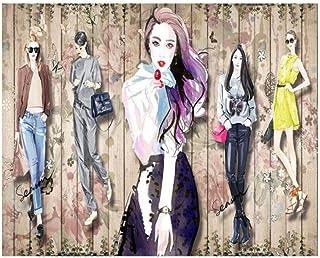 Papel Tapiz 3D Mural Frescos Decoración De La Pared Aparador De Ropa De Belleza Hecho A Mano Fondo Decorativo 250 Cm * 175 Cm