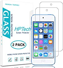 HPTech Screen Protector for iPod Touch - (2-Pack) Tempered Glass for Apple New iPod Touch (7th Gen 2019 Released / 6th & 5th Generation) [Bubble Free] with Lifetime Replacement Warranty