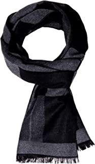 Winter Mens Scarf Cashmere Feel Scarves Warm Soft Fashion Business Plaid Scarf Gifts for Men