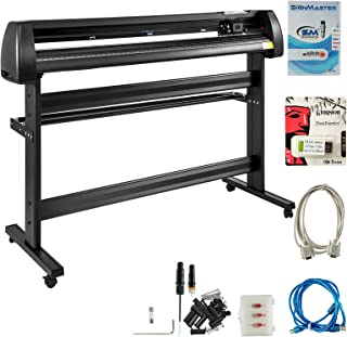 VEVOR Vinyl Cutter 53 inch Plotter Machine 1340mm Paper Feed Vinyl Cutter Plotter Signmaster Software Sign Making Machinewith Stand (53Inch Style 2)