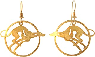 Wild Bryde Jewelry - Greyhound dangle earrings