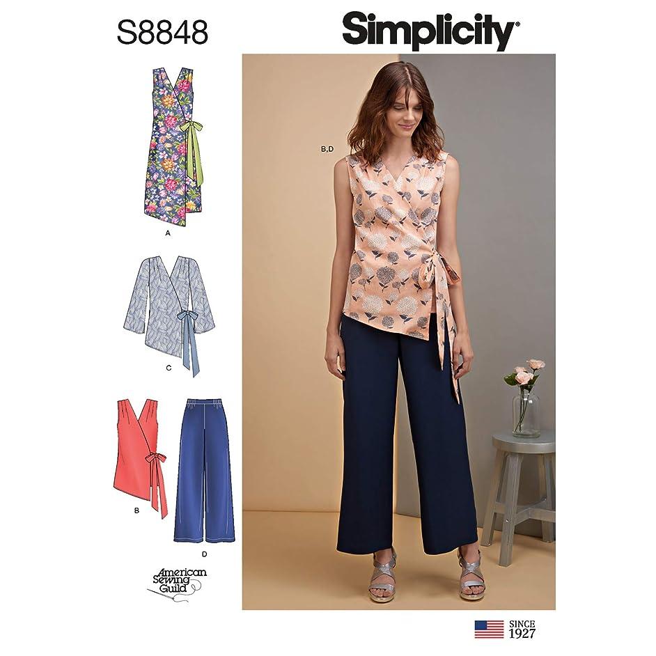 Simplicity US8848U5 Pattern S8848 Misses' Dress, Tops and Pants U5 (16-18-20-22-24)