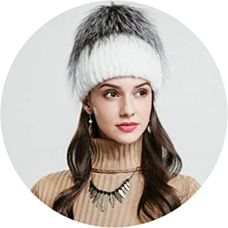 Sports Apparel Aooaz Faux Fur Hat Warm Hat for Winter Cut Cat Crystal Ear Knitting Hats Womens Hat Length 56-58CM