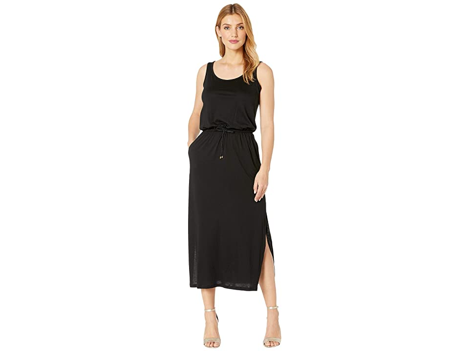 LAUREN Ralph Lauren Jersey Sleeveless Maxi Dress (Black) Women
