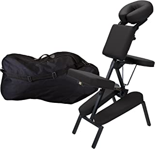 INNER STRENGTH Portable Folding Massage Chair ELEMENT -  Tattoo Spa Massage Therapy Chair incl. Deluxe Adjustable Headrest & Carry Case, 100% PU (Only 16lbs)