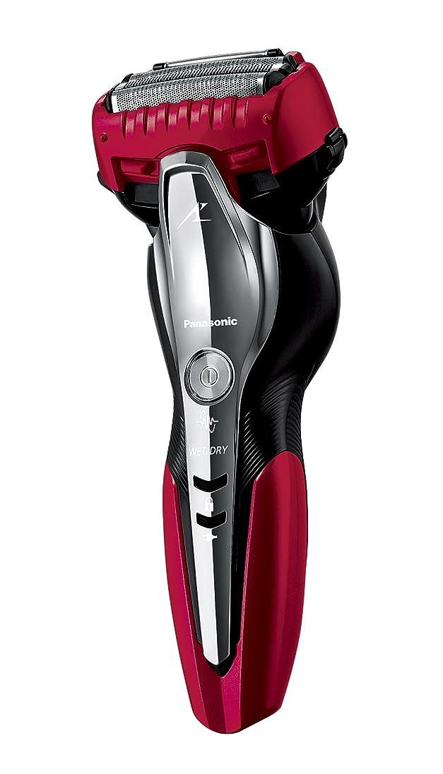 卑しいノベルティスリップパナソニック ラムダッシュ メンズシェーバー 3枚刃 お風呂剃り可 赤 ES-ST8N-R