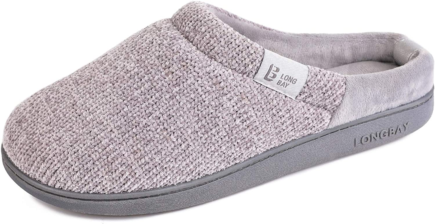LongBay Women's Comfy Slip On Wholesale U Ranking integrated 1st place with Cozy Slippers Chenille