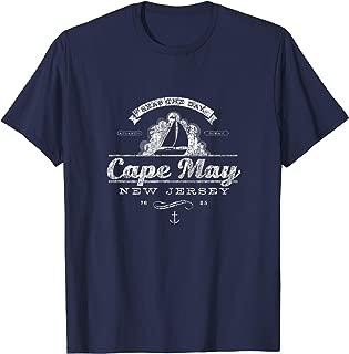 Cape May NJ Sailboat T-Shirt Vintage Nautical Throwback Tee
