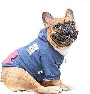 iChoue Pet Clothes Dog Hoodie Hooded Full-Zip Sweatshirt