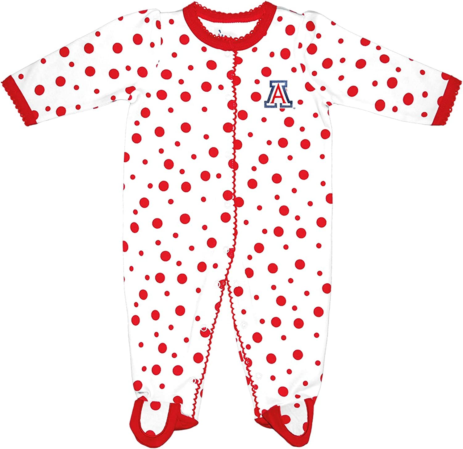 Two Feet Ahead NCAA Spasm price Arizona Wildcats Cre Polka Infant Dot Footed 2021 new
