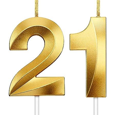 Zahlenkerze 2 Kerze Geburtstag Party Jubiläum