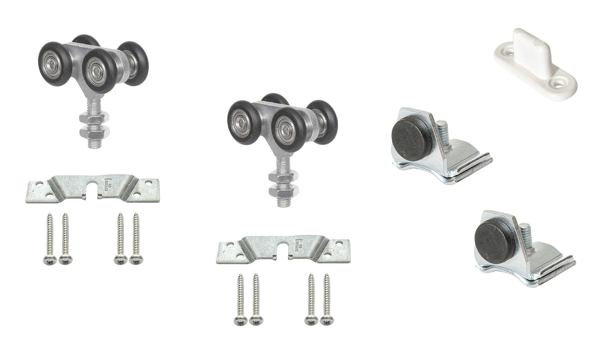 Estebro KC60N Kit de herraje para puerta corredera (hasta 60 kg con rodamientos en nylon): Amazon.es: Bricolaje y herramientas
