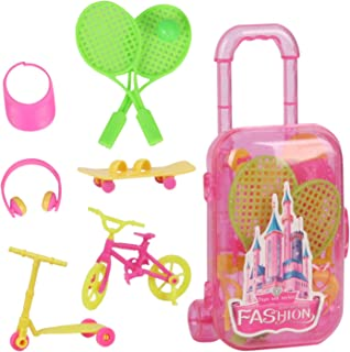 Huang Cheng Toys 9PCS Doll Accessories Lovely Playset Storage Luggage
